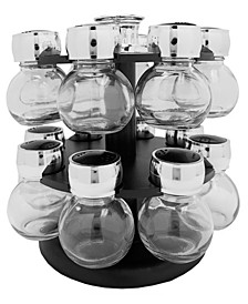 HDS TRADING CORP 16 Piece Revolving Spice Rack Set