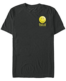Dazed and Confused Men's Left Chest Smiley Face Short Sleeve T-Shirt