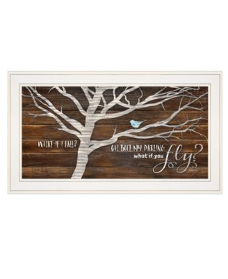 What if You Fly by Marla Rae, Ready to hang Framed print, White Frame, 27