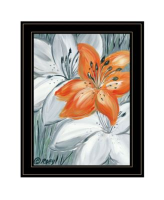 Tiger Lily in Orange by Roey Ebert, Ready to hang Framed Print, White Frame, 15