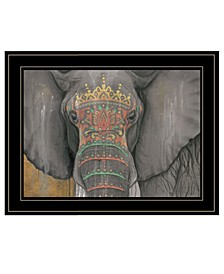 Trendy Decor 4u Tattooed Elephant by Britt Hallowell, Ready to Hang Framed Print Collection