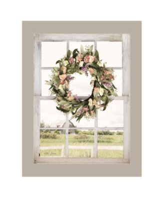 Summer View by Lori Deiter, Ready to hang Framed Print, Taupe Window-Style Frame, 14