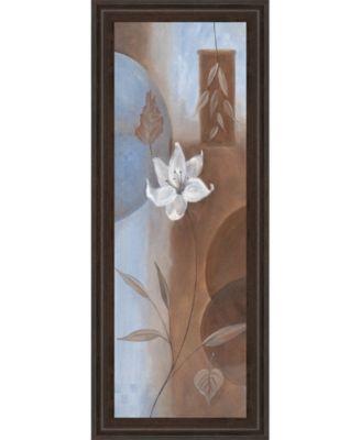 White Flower Il Framed Print Wall Art - 18