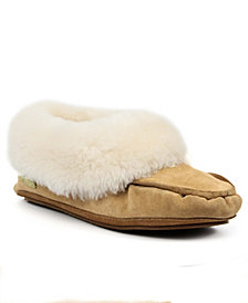 SUPERLAMB Women's Moccasin Slippers