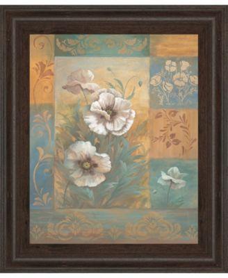 Pam's Poppies I by Vivian Flasch Framed Print Wall Art - 22