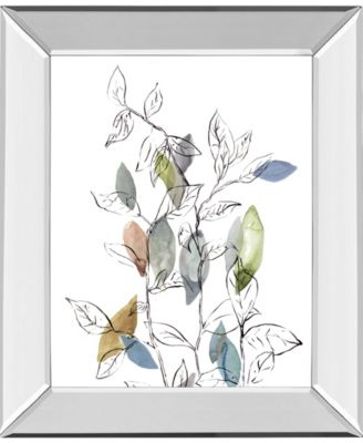 Spring Leaves I by Meyers, R. Mirror Framed Print Wall Art, 22