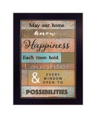 Our Home by Karen Tribett, Ready to hang Framed Print, White Frame, 15