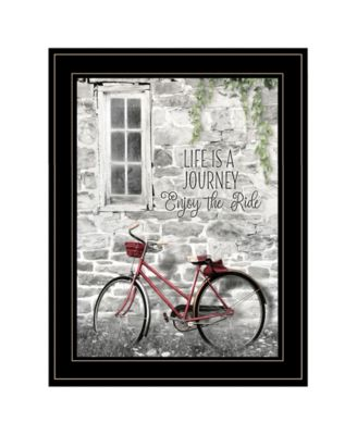 Life is a Journey by Lori Deiter, Ready to hang Framed Print, Black Frame, 15
