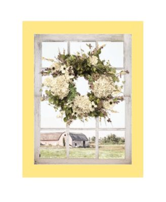 Pleasant View by Lori Deiter, Ready to hang Framed Print, Light Green Window-Style Frame, 14