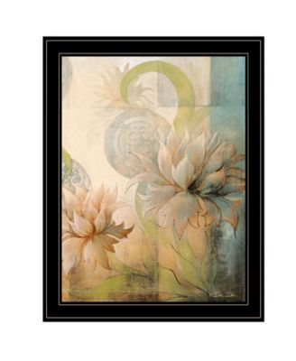 Meandering Flowers II by Dee Dee, Ready to hang Framed Print, White Frame, 21