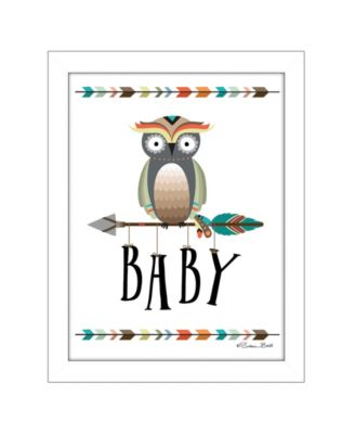 Owl Baby By Susan Boyer, Printed Wall Art, Ready to hang, Black Frame, 14