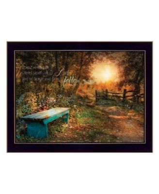 Show Me the Path by Robin-Lee Vieira, Ready to hang Framed Print, Black Frame, 18