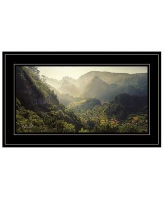 Land of the Hobbits Martin Podt, Ready to hang Framed Print, Black Frame, 21