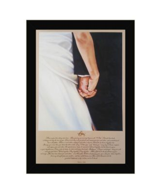 I Do By Bonnie Mohr, Printed Wall Art, Ready to hang, Black Frame, 20