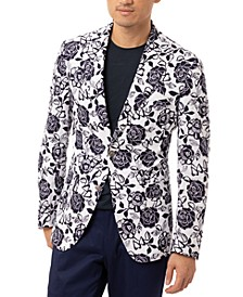 Orange Men's Slim-Fit Navy & White Floral Sport Coat