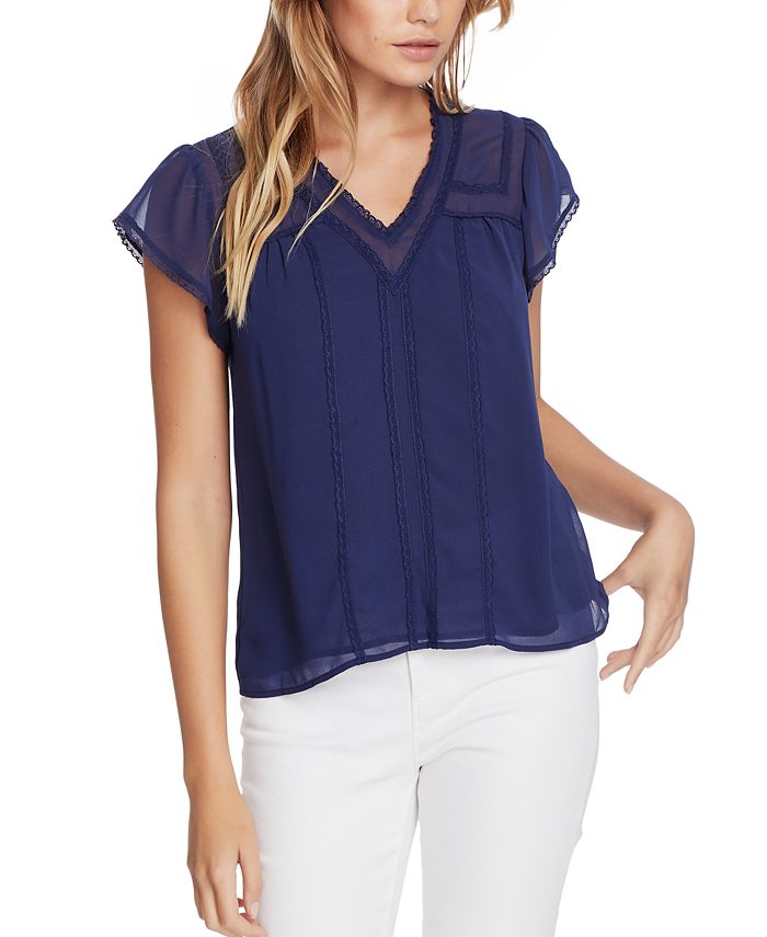 1.STATE - Plus Size Lace-Trim Top