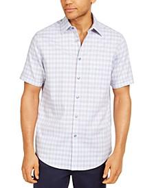 Men's Stretch Mini-Box Dobby Plaid Shirt, Created for Macy's