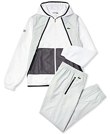 Men's Sport Hooded Colorblock Tracksuit