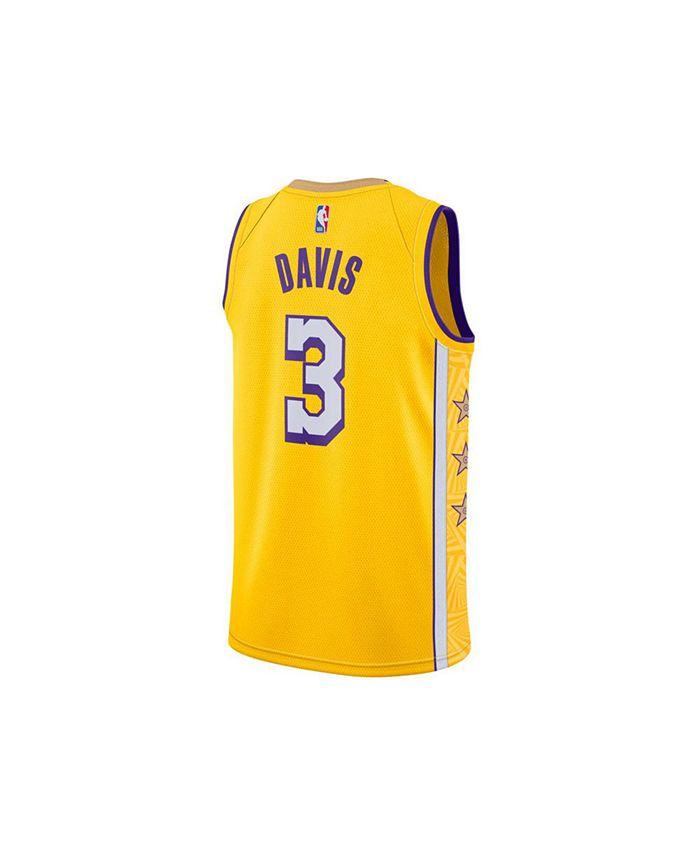 Nike Los Angeles Lakers Men's Anthony Davis City Edition Swingman ...