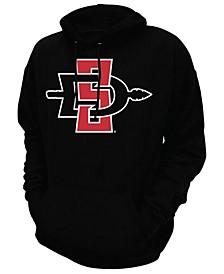 Retro Men's Brand Men's San Diego State Aztecs Men's Screenprint Big Logo Hooded Sweatshirt