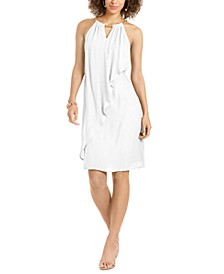 Ruffle-Front Halter Dress, Created for Macy's