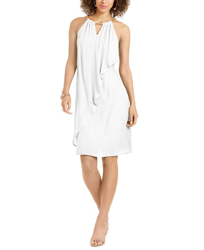 Thalia Sodi Ruffle-Front Halter Dress, Created for Macy's