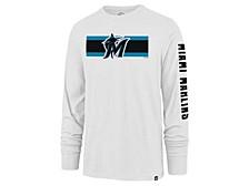 Miami Marlins Men's Cross Stripe Long Sleeve T-Shirt
