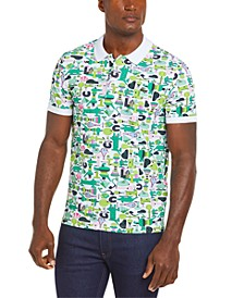 Men's Croco Series Jeremyville® Croc Graphic Printed Polo