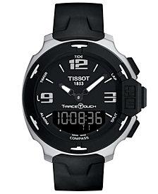 Tissot Men's Swiss Analog-Digital T-Race Touch Black Rubber Strap Watch 42mm T0814201705701