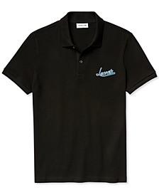 Men's Slim-Fit Pique Graphic Polo Shirt