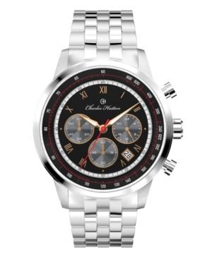 Men's Duke Chronograph Silver Stainless Steel Strap Watch 44mm