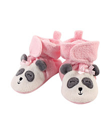 Hudson Baby Baby Girls and Boys Panda Cozy Fleece Booties