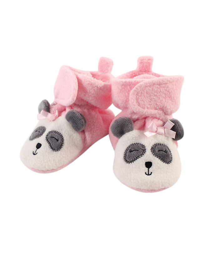 Hudson Baby Baby Girls and Boys Panda Cozy Fleece Booties