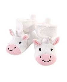 Baby Girls Unicorn Cozy Fleece Booties