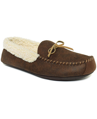 Club Room Men 39 S Slippers Aaron Sherpa Lined Moccasins Shoes Men Macy 39 S