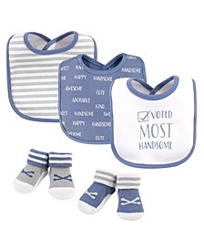 Baby Boys Voted Most Handsome Bib and Sock Set, Pack of 5