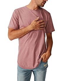 Longline Curve Hem Burnout T-Shirt
