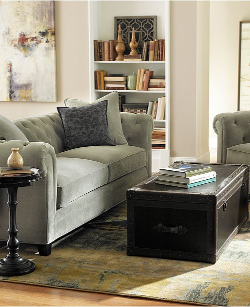 Martha Stewart Collection Saybridge 52 Quot Fabric Living Room