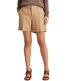 High-Rise Linen Shorts