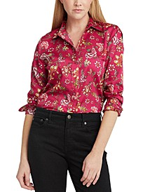 Floral Glossy Sateen Top