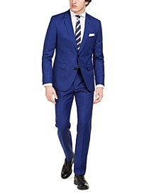 Men's Modern-Fit Bold Blue Solid Suit Separates