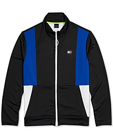 Men's Mock-Neck Sweatshirt with Magnetic Zipper