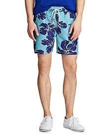 Men's Big & Tall Floral Traveler Swim Trunks
