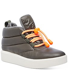 Women's Puffer Lace-Up Sneakers