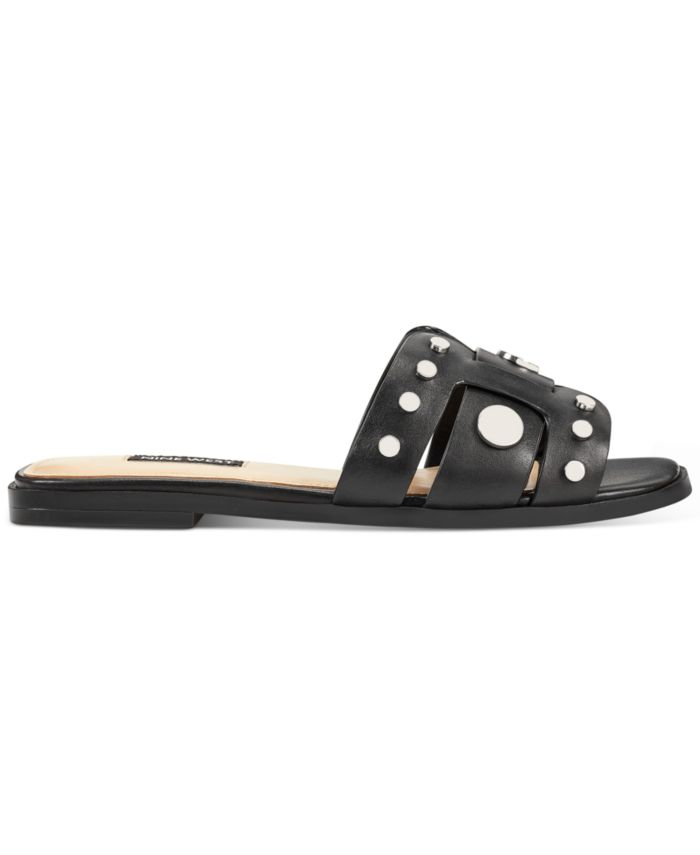 Nine West Gema Studded Slide Sandals & Reviews - Sandals - Shoes - Macy's