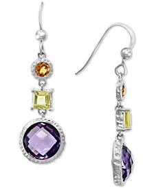 EFFY® Multi-Gemstone Drop Earrings (8-1/2 ct. t.w.) in Sterling Silver