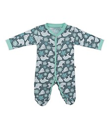 Baby Boys and Girls Snow Bears Footed Bodysuit