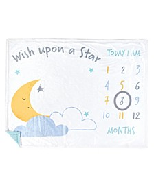 Baby Girls and Boys Wish Upon a Star Plush Holiday and Milestone Blanket