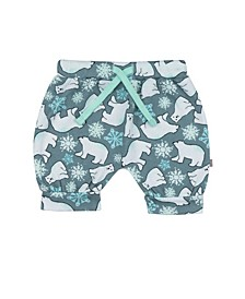 Baby Girls Snow Bears Puff Shorts