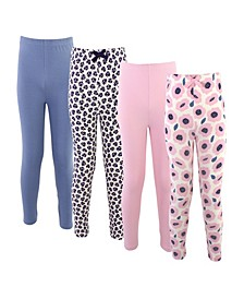 Toddler Girls Blossom Leggings, Pack of 4
